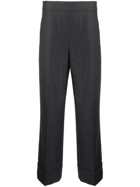 Со стрелками с завышенной талией серые брюки Incotex