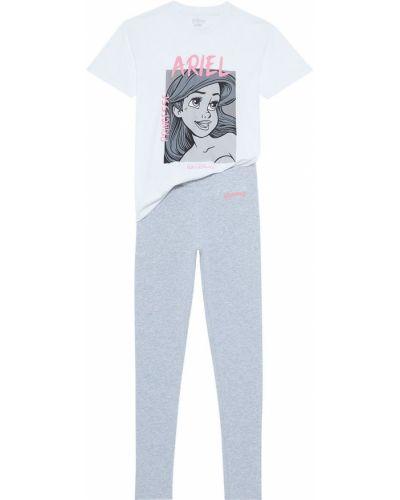 Szara piżama bawełniana krótki rękaw Undiz