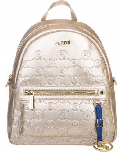 Кожаный рюкзак - золотой Ferre Collezioni