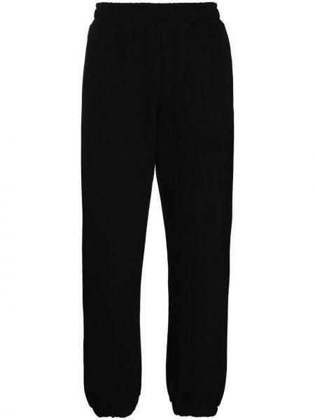 Хлопковые черные брюки с накладными карманами P.e Nation