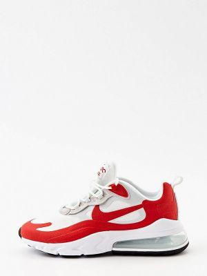 Красные текстильные низкие кроссовки Nike