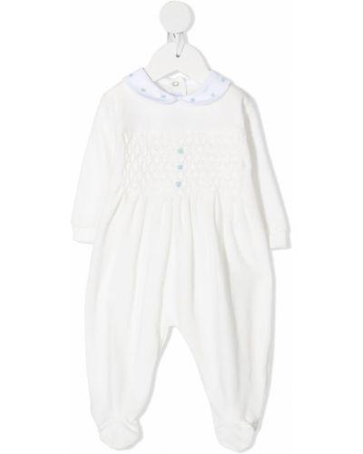 Хлопковый белый классический комбинезон с вышивкой Siola