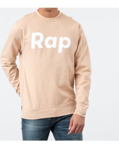 Bluza na szyi brązowy Rap