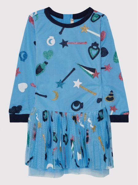 Niebieska sukienka elegancka Billieblush