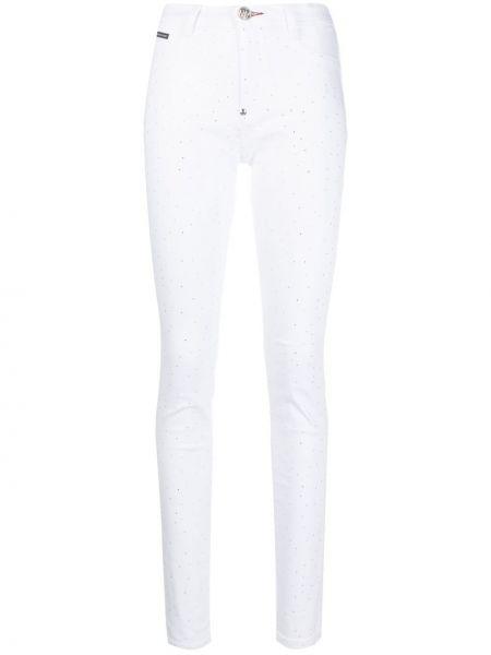 Jeansy rurki - białe Philipp Plein