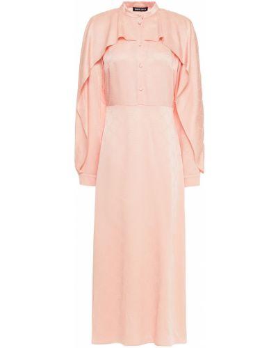 Платье миди атласное - оранжевое Markus Lupfer