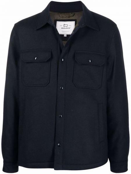 Рубашка с длинным рукавом - синяя Woolrich