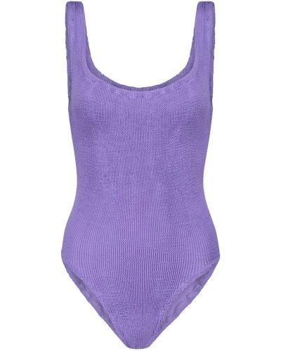 Нейлоновый фиолетовый купальник квадратный Hunza G