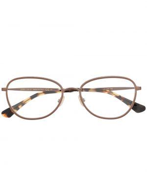 Прямые очки для зрения круглые металлические золотые Jimmy Choo Eyewear