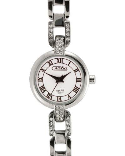 Часы металлические - белые Слава