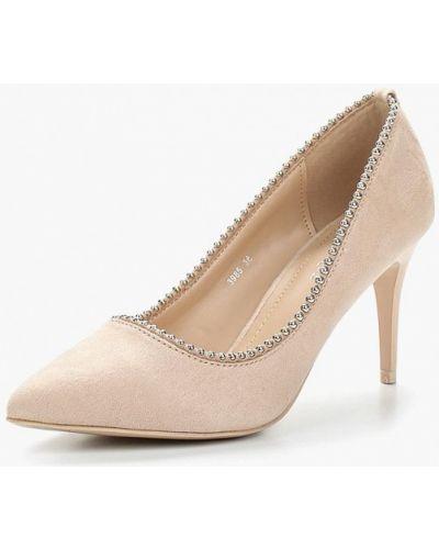Бежевые туфли-лодочки Diamantique