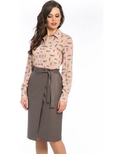 Блузка розовый с принтом Modellos