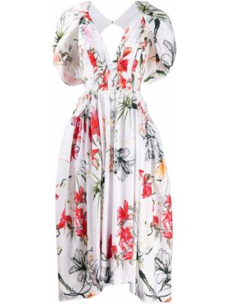 Платье мини миди на пуговицах Alexander Mcqueen
