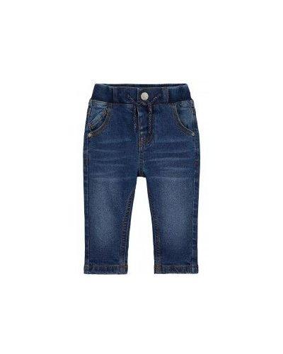 Флисовые синие утепленные брюки Mothercare