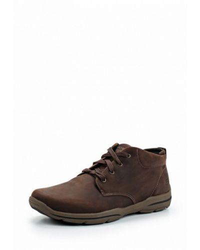 Коричневые ботинки Skechers