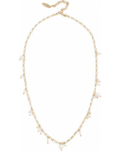 Ожерелье золотое с жемчугом позолоченное Luv Aj