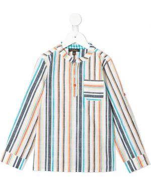 Koszula bawełniana w paski z długimi rękawami Velveteen