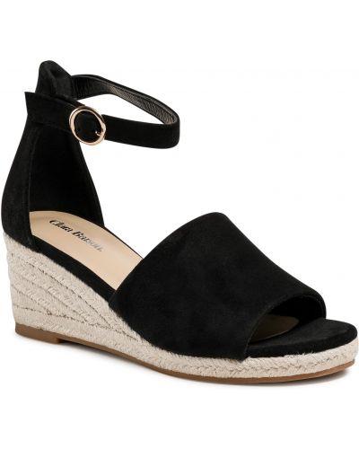 Sandały espadryle - czarne Clara Barson
