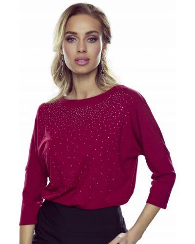 Czerwona bluzka z wiskozy Eldar