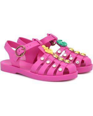 Желтые сандалии Gucci Kids