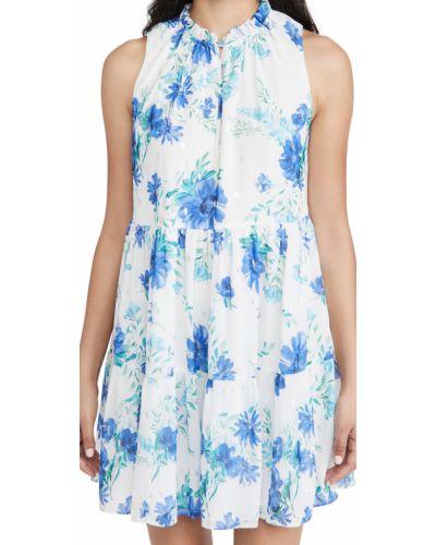 Платье с подкладкой металлическое в цветочный принт с декольте Yumi Kim