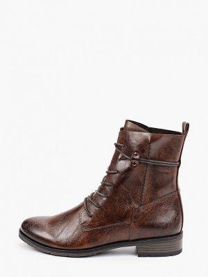 Кожаные ботинки - коричневые Marco Tozzi