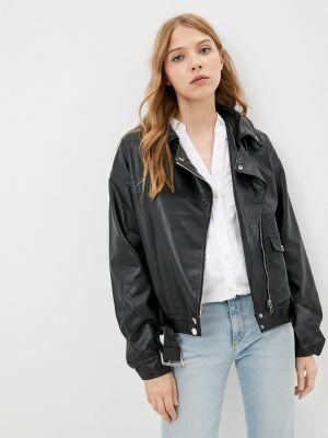 Кожаная куртка - черная Fadas