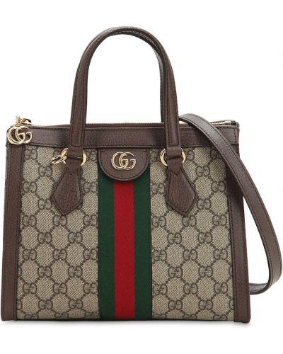 Кожаная сумка с ручками с подкладкой Gucci