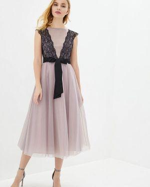 Вечернее платье розовое осеннее Genevie