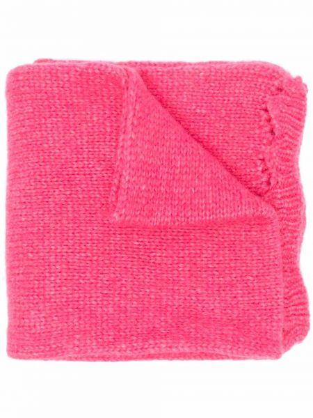 Шерстяной шарф - розовый Semicouture