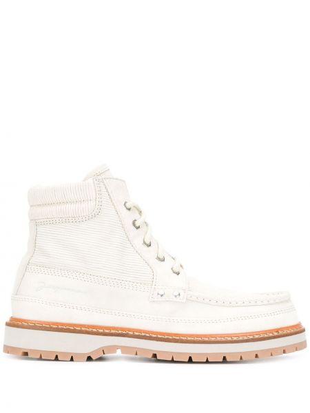 Zamsz biały buty zasznurować okrągły Jacquemus