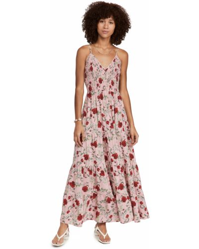 Платье с декольте - розовое Yumi Kim