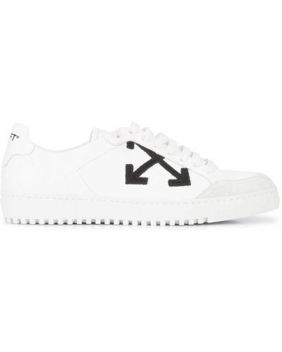 Кожаные кроссовки на шнуровке Off-white