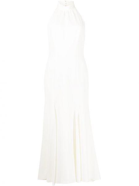 Открытое белое платье миди с открытой спиной Milly