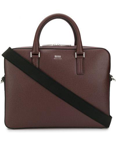 Кожаная сумка - красная Boss Hugo Boss