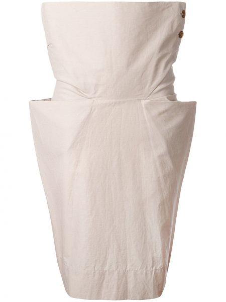 Юбка миди со складками винтажная в рубчик на пуговицах Vivienne Westwood Pre-owned