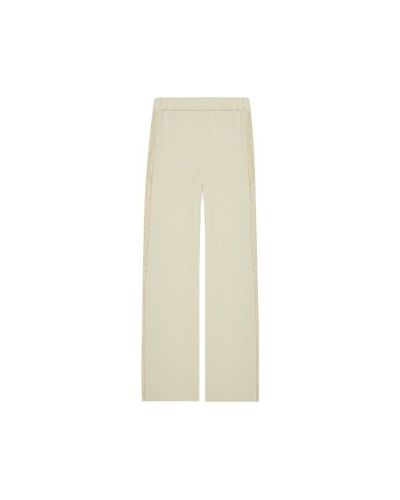 Бежевые прямые брюки Fabiana Filippi