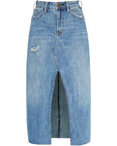 Юбка миди джинсовая синяя One Teaspoon
