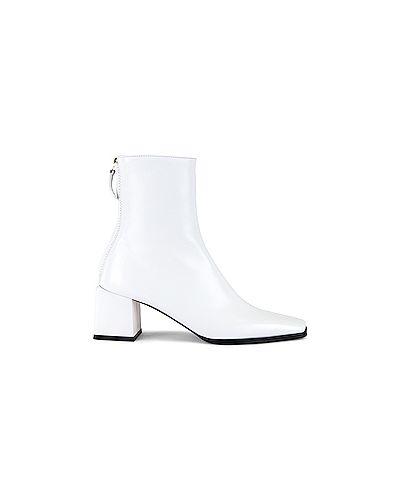 Белые кожаные кожаные ботильоны Reike Nen