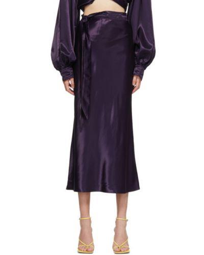 Satyna fioletowy spódnica Collina Strada