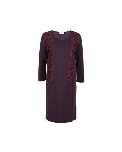 Деловое платье бордовый красный Blumarine