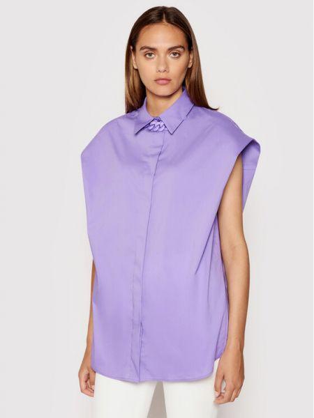 Fioletowa koszula oversize Imperial