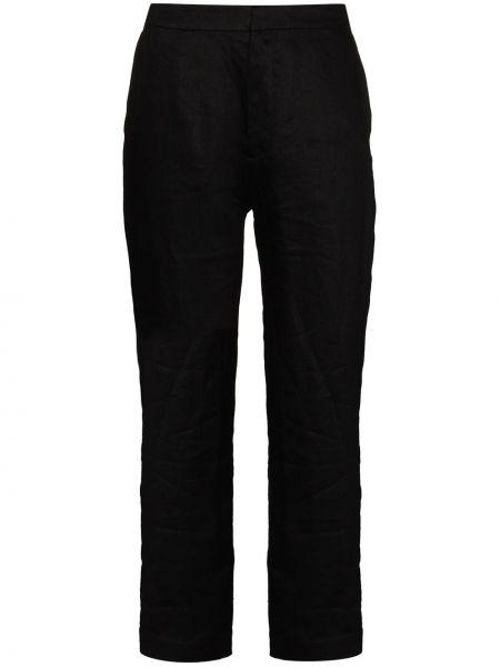 Черные укороченные брюки Asceno