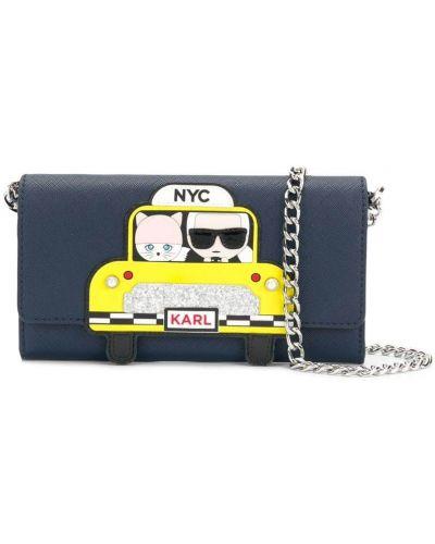 Синий кошелек Karl Lagerfeld
