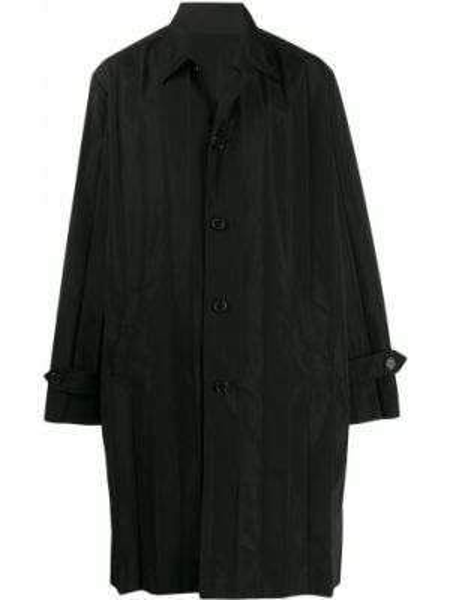 Czarny płaszcz z długimi rękawami Undercover