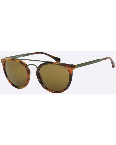 Солнцезащитные очки стеклянные металлические Polo Ralph Lauren