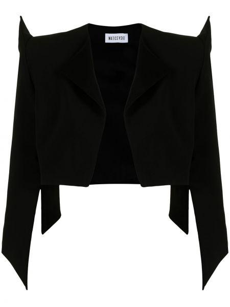 Czarna kurtka wełniana Maticevski