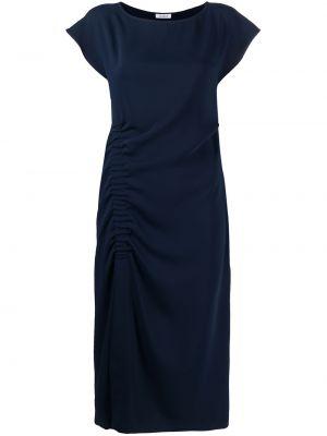 Синее платье миди с вырезом с драпировкой P.a.r.o.s.h.