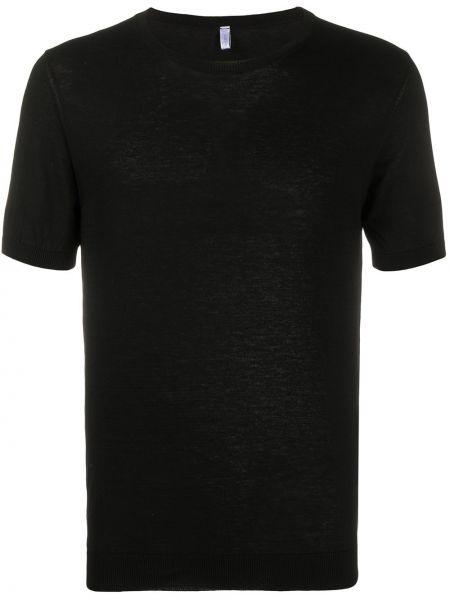 Черная рубашка с короткими рукавами с манжетами Cenere Gb