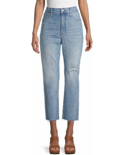 Хлопковые укороченные джинсы с карманами винтажные Madewell